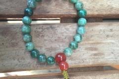 green kyanite mala